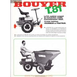 Bouyer T81 Fiche Information