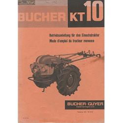 Bucher Kt10 Manuel Entretien