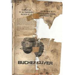 Bucher Kt10 Pieces Piece Rechange