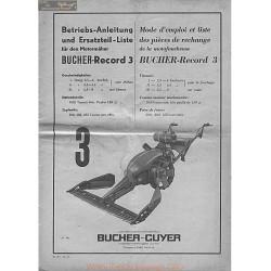 Bucher Record 3 Manuel Entretien