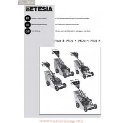 Etesia Pro51b Pro51k Pro51h Pro51x Manuel Entretien