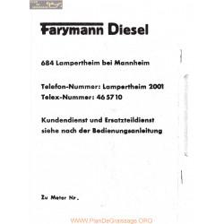Faryman Diesel A La Ba Lba Piece Rechange