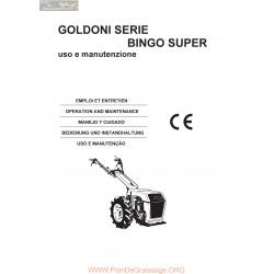 Goldoni Bingo Super Manuel Entretien