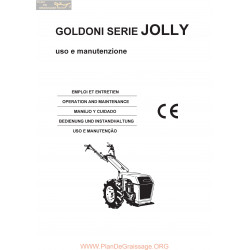 Goldoni Jolly Manuel Entretien