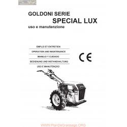 Goldoni Special Lux Manuel Entretien