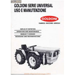 Goldoni Universal Manuel Entretien