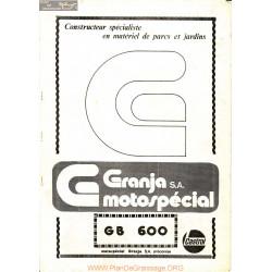 Granja Gb600 Manuel Entretien