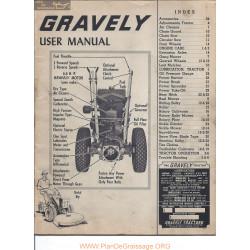 Gravely L Utilisation Us Et Illustre Manuel Entretien