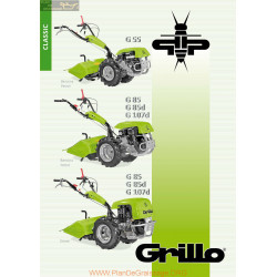Grillo G55 G85 G85d G107d Fiche Information