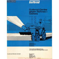 Gutbrod Deneigement 1966 Manuel Entretien