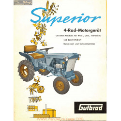 Gutbrod Superior 1963 Fiche Information