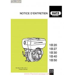 Hatz 1b 20 27 30 40 50 Manuel Entretien