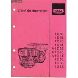 Hatz 1d 30 81 Livret De Reparation Moteur