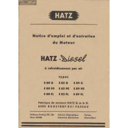 Hatz Diesel E 80 85 89 Manuel Entretien