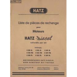 Hatz Diesel E 80 85 89 Piece Rechange