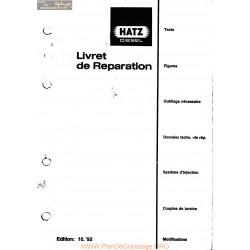 Hatz E S 71 E S 75 E S 79 E S 780 He780 E S 785 E S 786 Livret De Reparation
