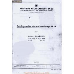 Hirth D23 Et D24 Piece Rechange