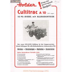 Holder A10 Fiche Information