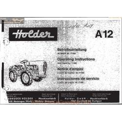 Holder A12 Manuel Entretien