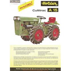 Holder A15 Fiche Information