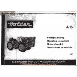 Holder A15 Manuel Entretien