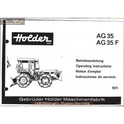 Holder Ag35 Ag35f Manuel Entretien