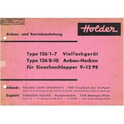 Holder E11 E12 Accessoire Manuel Entretien