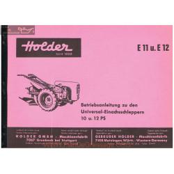 Holder E11 E12 Manuel Entretien