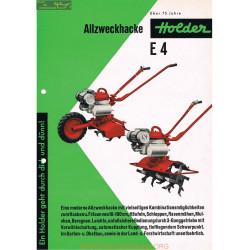 Holder E4 Prospekt Fiche Information