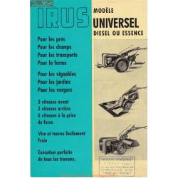 Irus Modele Universel Manuel Entretien