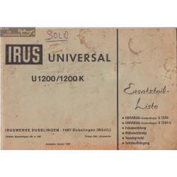 Irus U1200 1200k Manuel Entretien
