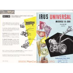 Irus Universal U300 Fiche Information