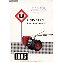 Irus Universel U600 U1200 U1200k Fiche Information