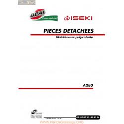 Iseki A280 Fiche Information