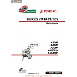 Iseki A300 A400 A500f Et Fw Liste Des Pieces