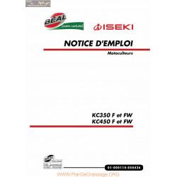 Iseki Kc350 Kc 450f Fw Manuel Entretien