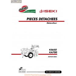 Iseki Ks650 Ka700 Diesel Piece Rechange