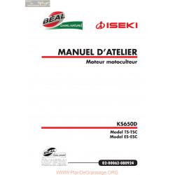 Iseki Ks650d Atelier Manuel Entretien