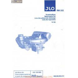 Jlo Rm252 De Rechanges Piece Rechange