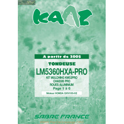 Kaaz Lm5360hxa Pro Gxv160 H2 2005 Piece Rechange