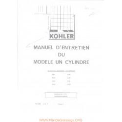 Kohler Moteur K91 K141 K161 K181 K241 K301 K321 K341 Manuel Entretien