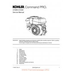 Kohler Pro Ch 260 395 440 Manuel Entretien