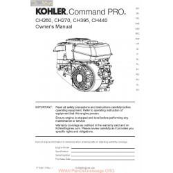 Kohler Pro Ch 260 395 440 Manuel Utilisateur