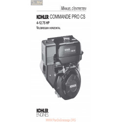 Kohler Pro Cs Manuel Entretien
