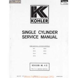 Kohler Service N°4 72 K91 K321 Manuel Entretien