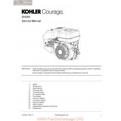 Kohler Sh265 Manuel Entretien