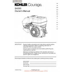 Kohler Sh265 Manuel Utilisateur