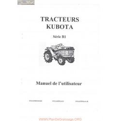 Kubota B1 Manuel Utilisateur