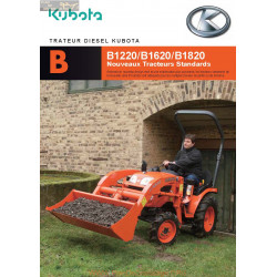 Kubota B1220 1620 1820 Fiche Information