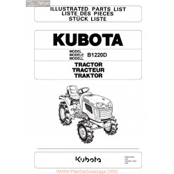 Kubota B1220d Piece Rechange
